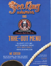 Fresh Seafood Takeout Menu
